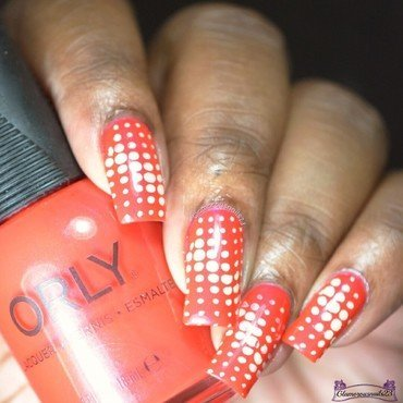 The Nail Challenge Collaborative - Dots #1  nail art by glamorousnails23