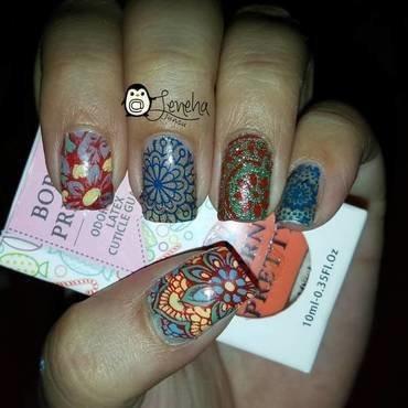 Mandala Nails nail art by Leneha Junsu