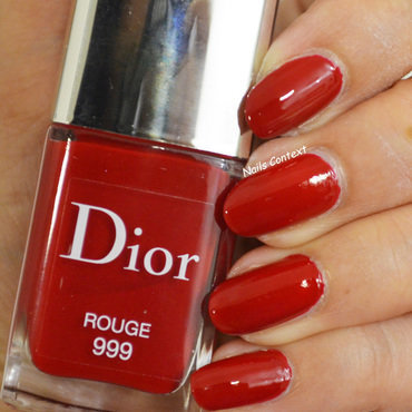 Dior Rouge 999 Swatch by NailsContext