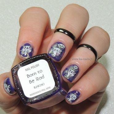 Anniversaire de ma Vanille et les Vernis nail art by Ka'Nails