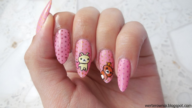 Rilakkuma bear nail art nail art by MaliNaila