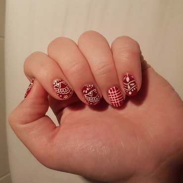 Wannabe christmasnails  nail art by TheSailorWoman