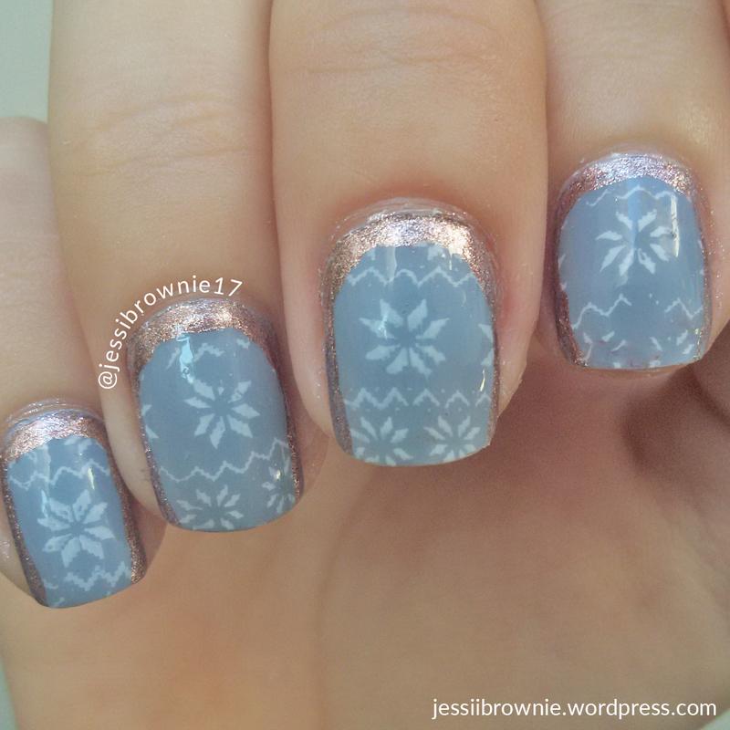 Rose Snowflakes nail art by Jessi Brownie (Jessi)