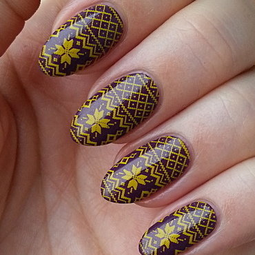 Sweater Weather nail art by Mgielka M