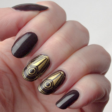 Years ago - art deco manicure nail art by What's on my nails today?
