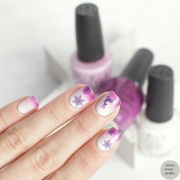 Water Decal Winter Nailart nail art by Sabrina