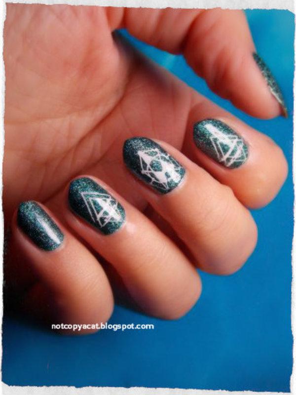 Space manicure nail art by notcopyacat