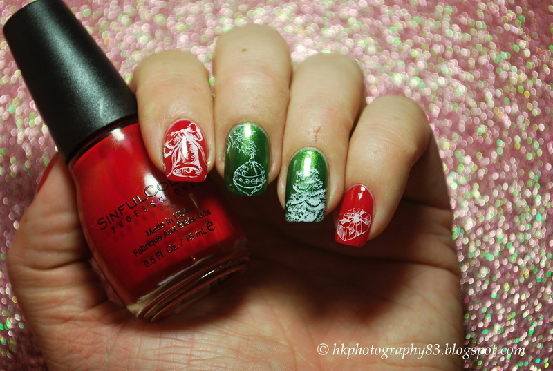 Christmas nails nail art by Hana K.
