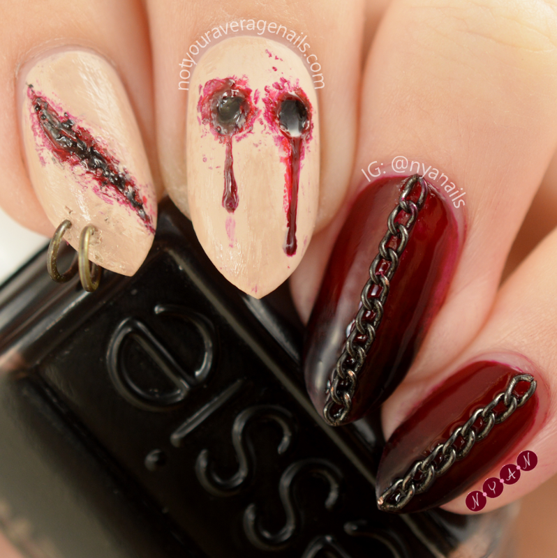 Scars nail art by Becca (nyanails)