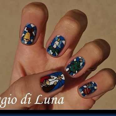 Christmas Nativity & Christmas decorations nail art by Tanja