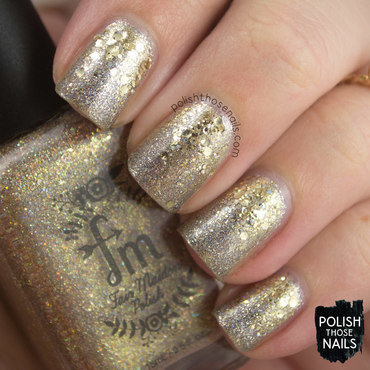 Silver & Gold Sparkle nail art by Marisa  Cavanaugh