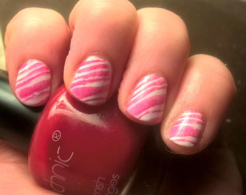 Candy Cane Nails nail art by Sazjay