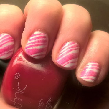 Candy Cane Nails nail art by Sazjay