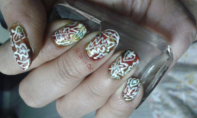 The Last Leaf nail art by Rusa
