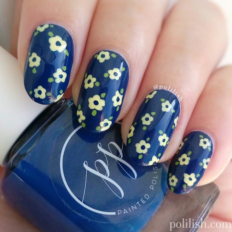 Delicate floral nail art nail art by polilish