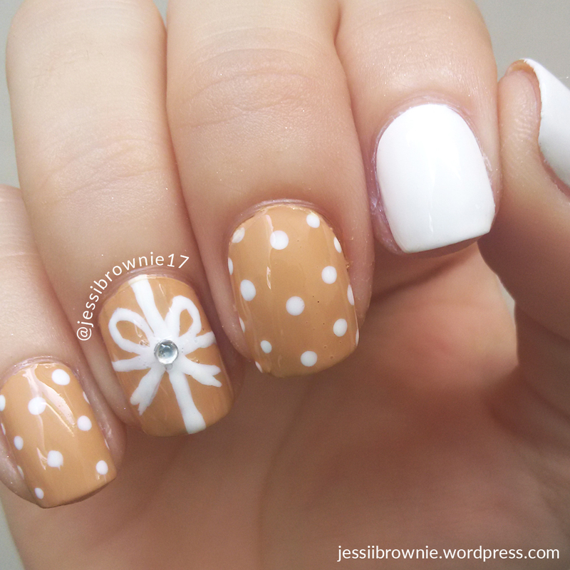 Gift Wrap Nail Art Option 1 nail art by Jessi Brownie (Jessi)