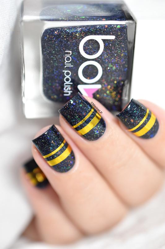 Dark Days & bling nail art by Marine Loves Polish