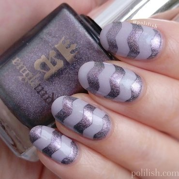 Zig zag nails nail art by polilish