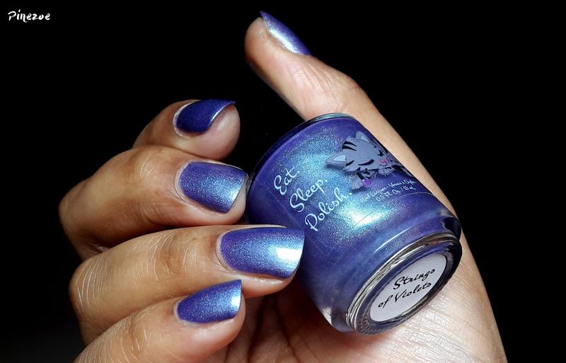 Eat Sleep Polish Strings of Violets Swatch by Pinezoe