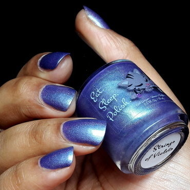 Eat Sleep Polish Strings of Violets Swatch by Pinezoe