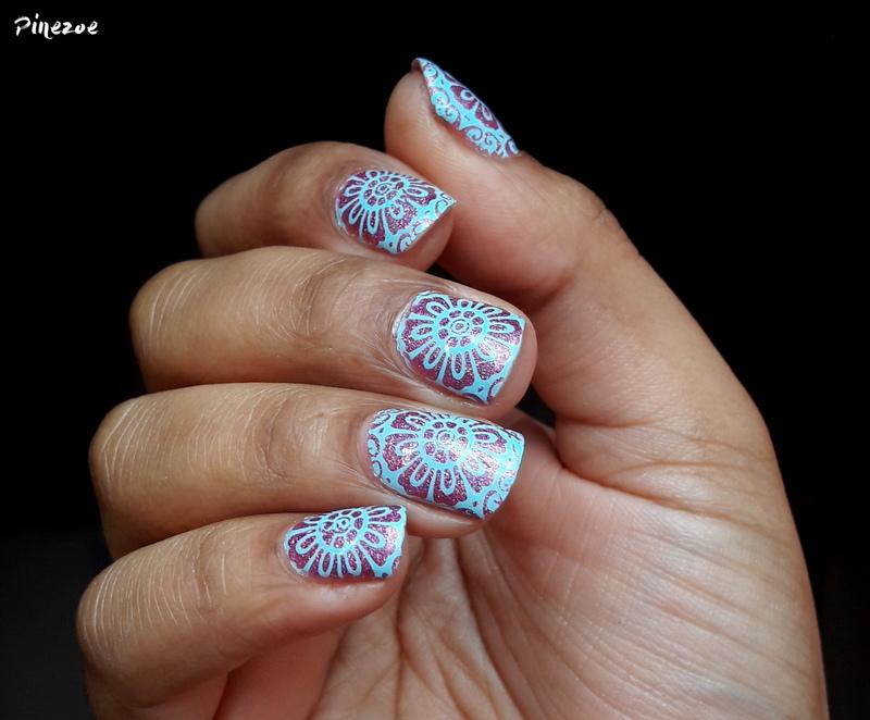 Arabesques nail art by Pinezoe