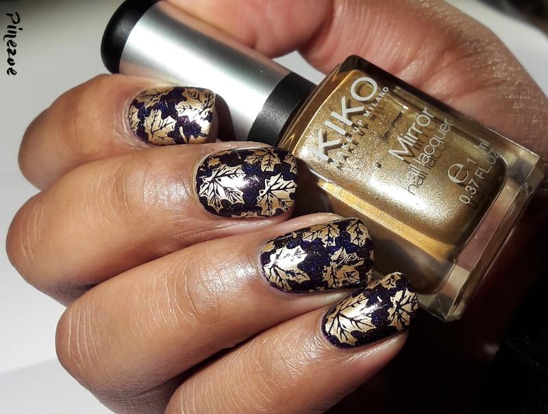 Fall nail art by Pinezoe
