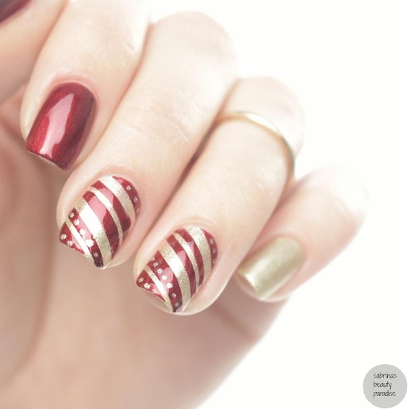 FNUG simple christmas nailart  nail art by Sabrina