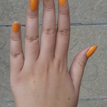 Orange or yellow? nail art by Lucy