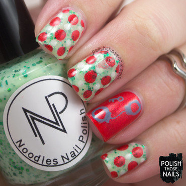 Christmas polka dots handcuffs nail art 4 thumb370f