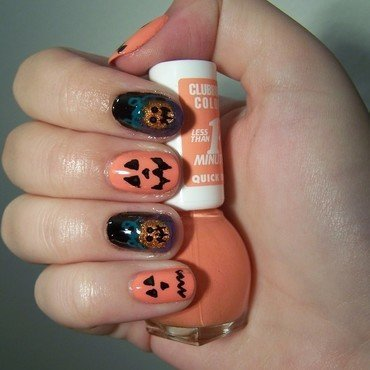 Halloween nail art nail art by Lucy