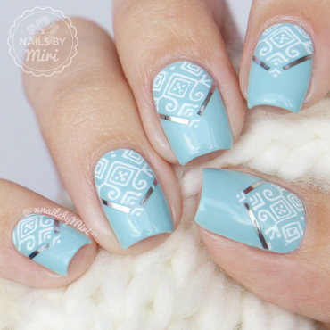 Stamping + Striping Tape nail art by xNailsByMiri