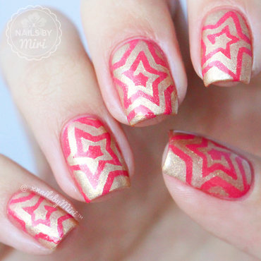 Star Swirls nail art by xNailsByMiri