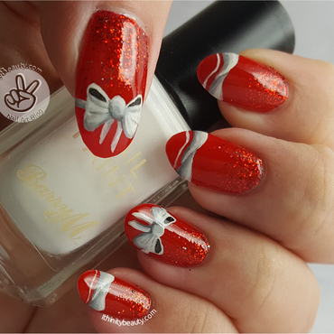 'Red & Elegant' Birthday Bows nail art by Ithfifi Williams