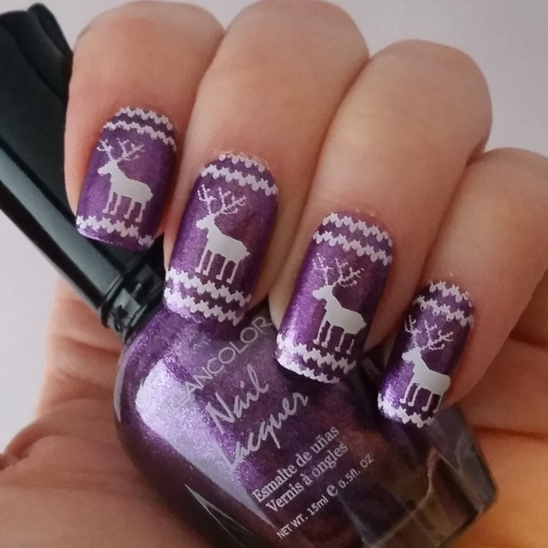 Reindeer Nails  nail art by Gr8Nails