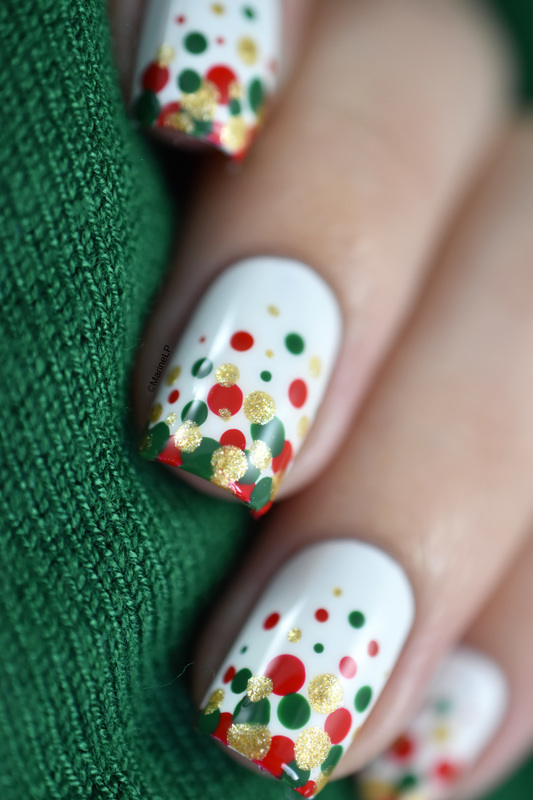 Christmas Confetti nail art by Marine Loves Polish