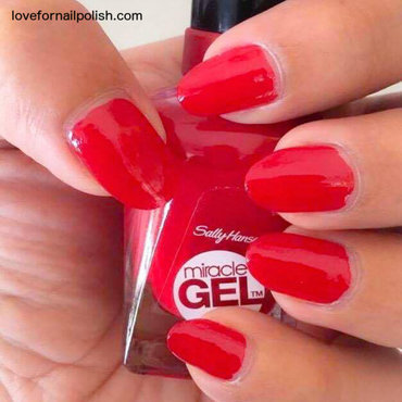 Sally Hansen Miracle Gel Rhapsody Red Swatch by Demi