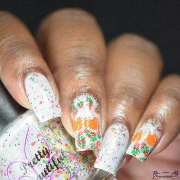 Clairestelle8 November 2016 Day 22 - Thanksgiving  nail art by glamorousnails23