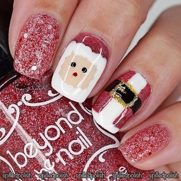 Santa Nails nail art by Maddy S