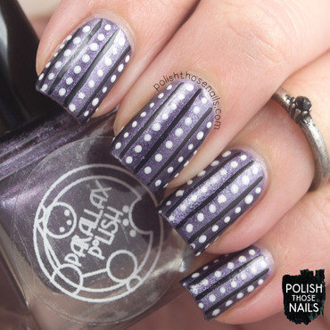 Parallax polish beta purple metallic stripe polka dot nail art 3 thumb370f