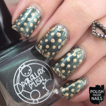 Parallax polish error in your r gold polka dot nail art 3 thumb370f