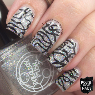 Parallax polish do i have to silver holo glitter black squiggle nail art 3 thumb370f