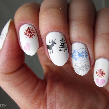 Christams Sweater :) nail art by Yenotek