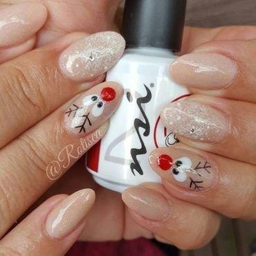 Cute Reindeer Nails nail art by NSI Nails
