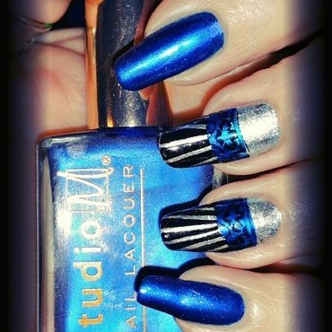 Art deco shine  nail art by Maureen Spaulding