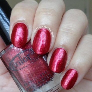 Color Club Berry and bright Swatch by Lisa N