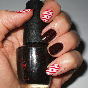 Candy canes nail art by only real nails.