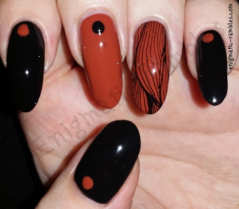 Autumnal Wooden Nails nail art by Enigmatic Rambles