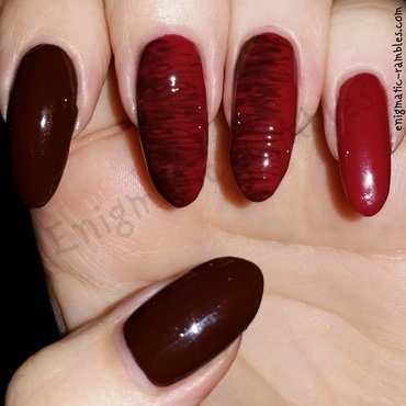 Autumn Needle Drag nail art by Enigmatic Rambles