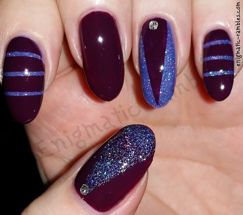 Glitter Party Nails nail art by Enigmatic Rambles