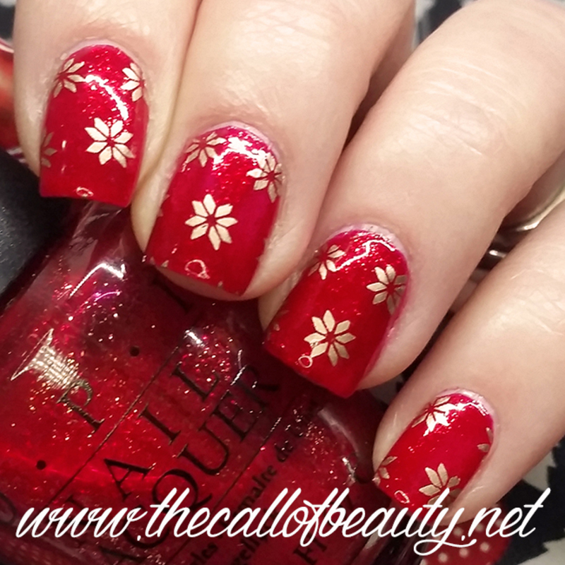 Christmas Wrapping Paper nail art by The Call of Beauty
